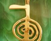 Reiki Jewlry, Reiki Necklace, Cho Ku Rei, Reiki Pendants, 14k Gold, Reiki Charm, Healing Necklaces, Healing Pendants, Spiritual Jewelry