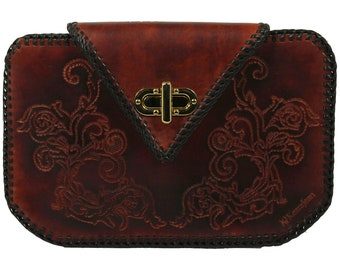 Tooled Leather Clutch -  Pico