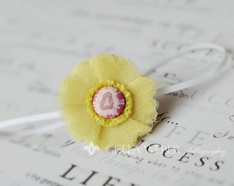 Baby Headband, Yellow Newborn Headband, Yellow Baby Headband, Toddler Headbands, Newborn Headbands, Children Headbands
