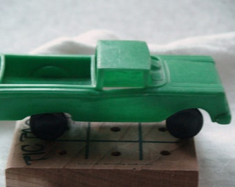 Vintage Mid-Century Green Toy Molded Plastic Collectible Pickup