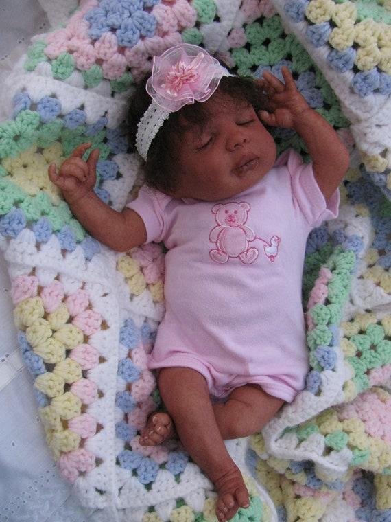 Reborn Realistic Lifelike Ethnic Biracial Aa Black Baby Girl
