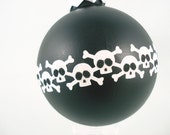 Large Skully Bomb Glass Globe Ornaments - 3 pack