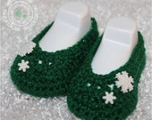Christmas Baby Booties, Baby Shoes, Crochet Baby Booties - Baby Girl Booties - Ballet Slippers, Snowflakes, READY TO SHI