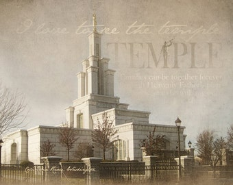 Columbia River Washington LDS Temple Print 16x20