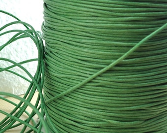 6yds Cord Waxed Cotton Green String Lace 1.5mm Jewelry Cord Macrame String