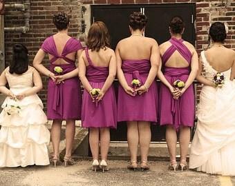 Purple BRIDESMAID Convertible Wrap Dress...67 Colors..Prom, Wedding, Honeymoon, Beach, Vacation, Date Night, Party