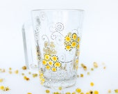 Chamomile mug - Yellow Flowers Mug - Tea Cup painted