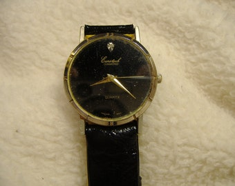 Vintage 1980s Eurotech Diamond Quartz Watch