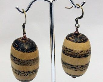 Bamboo and Wood earrings