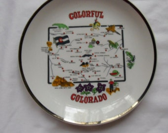 Vintage Souvenir Plate of Colorado Made in Korea