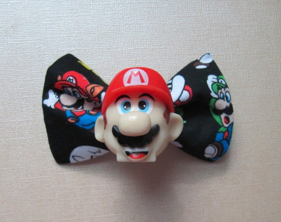 Gamer Super Mario Brothers 3 Hair Bow OldSchool Clip