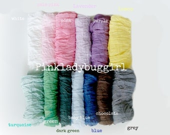 1 hand dyed cheesecloth wraps newborn photo prop must have FREE SHIPPING you select the color
