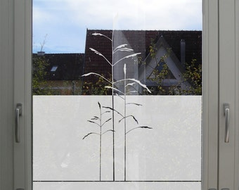 Customizable Window Film Etched Glass and Frosted Glass Decorative Window Film Privacy Decal Bathroom Privacy Film Glass Decoration