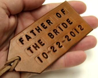 Wedding Favor Luggage Tag Tan Leather Custom Luggage Tag Wedding Party