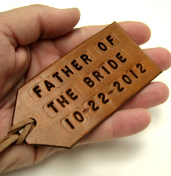 Wedding Favor Luggage Tags Leather : Wedding Favor Luggage Tag Tan Leather Custom Luggage Tag Wedding Party