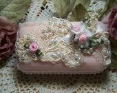 Victorian lace soap - Victorian romantic soap - Provence embellished soap - Rose Petals Soap