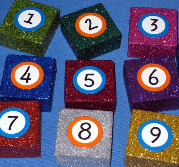 Number Stamps Math Teacher Gift Montessori Counting Mathematics Toy Children Learn to Count Math Stamp Set in Bright Colors
