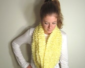 Chunky Circle Scarf Knit Yellow - The Baltimore Cowl