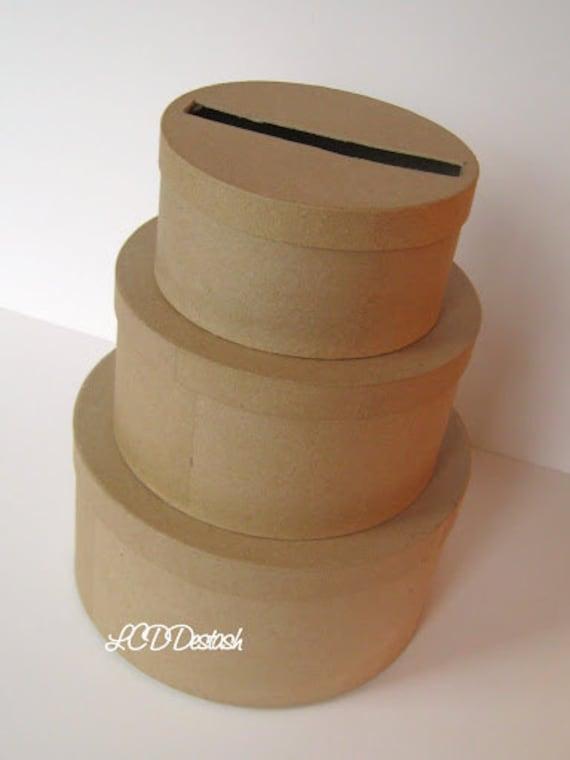 DIY Wedding Card Box Unfinished 3 tier card Box by LCDDeStash