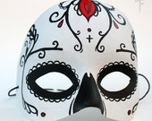 Pretty Eyes Sugar Skull Day of the Dead Hand painted Mask by Lupe Flores