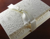 Snowflake Cards - Christmas Card Set of 8 with Winter Snow Pattern for Holiday Wishes