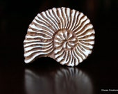 Hand Carved Indian Wood Textile Stamp Block- Shell