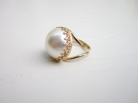 Reserve For Emily - Pearl Ring In Sterling Silver