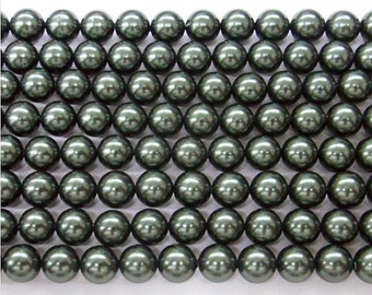 10mm South Sea Peacock Shell Core Beads 15''L - 5082 Wholesale Shell