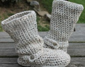 Crochet Boots Pattern-----OATMEAL-----Slouchy Mid Calf Boots for the Street-----Boho Style----Instant Download