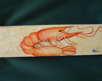 Shrimpy on Wood