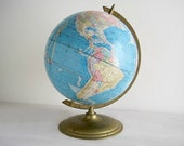 Vintage World Globe - Cram's Scope-O-Sphere