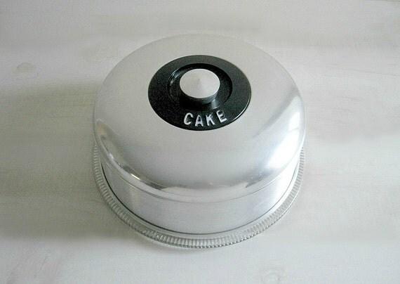 Vintage Kromex Cake Saver & Cake Plate - Mid-Century Chic