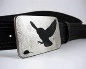 Predatory Owl Belt Buckle - Stainless Steel - Handmade