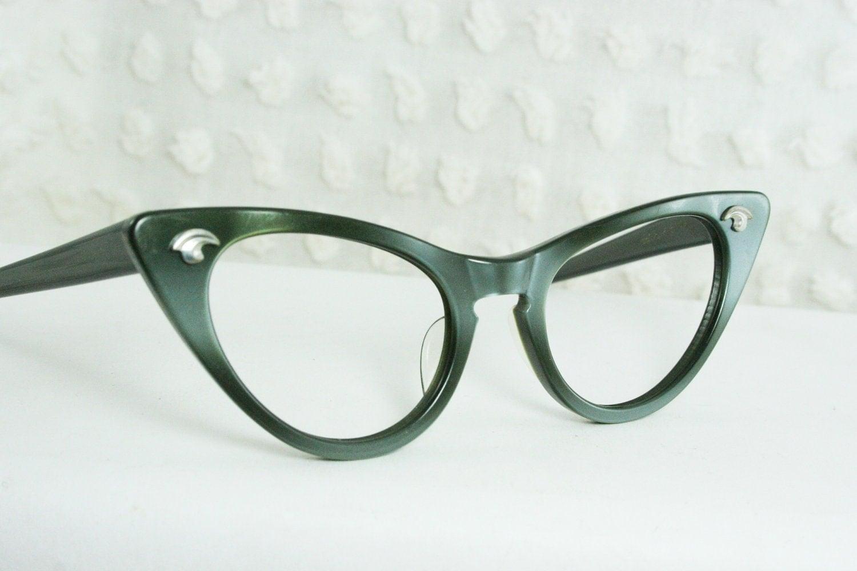vintage 50s cat eye glasses 1950 s eyeglasses by