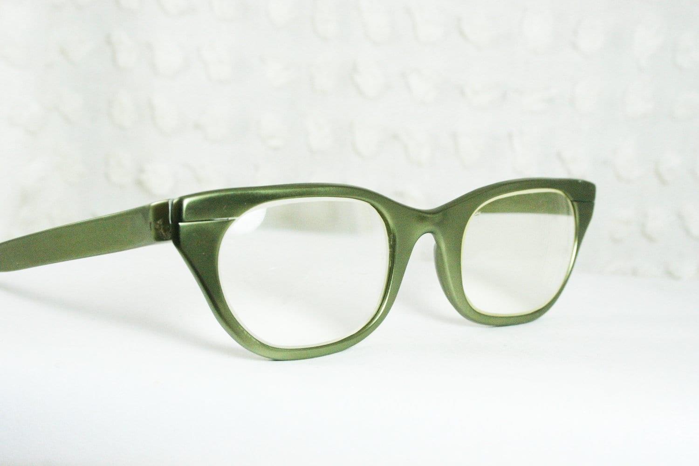 Eyeglass Green Frame : Tura 50s Cat Eye Glasses 1950s Metal Eyeglasses by DIAeyewear