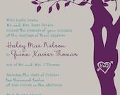 Custom Listing for CometCrafts - Custom Love Birdies Wedding Invitation Suite with RSVP postcards - Digital Files - DIY Wedding