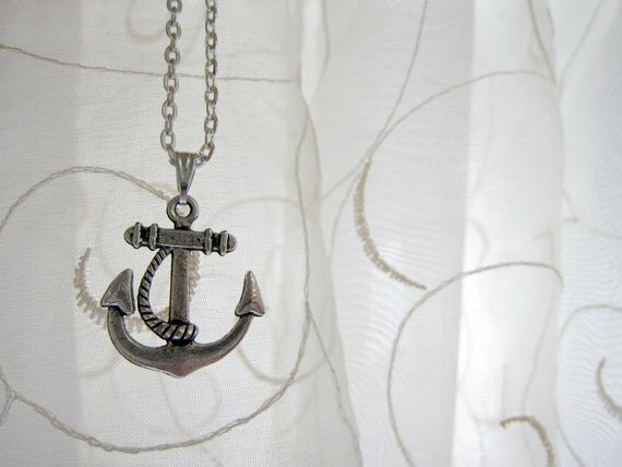 Anchors Away Silver Plated Necklace