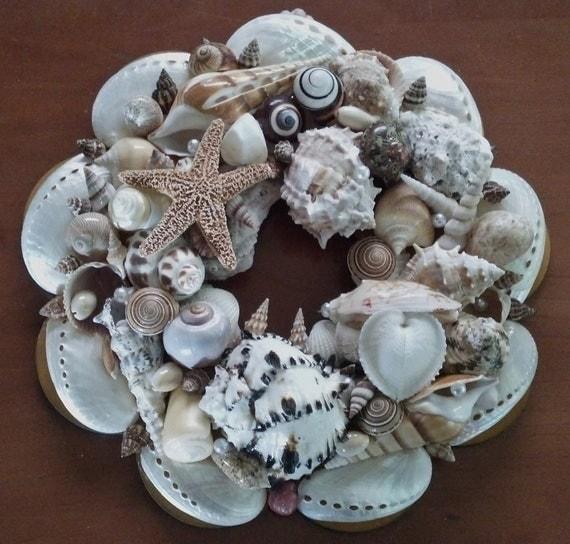 SeaShell & Starfish Wreath 4 -- In Memory of Anthony