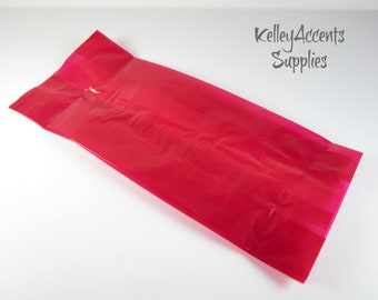 Red Translucent Cello Bags