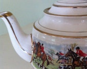 English Teapot / Sadler Fox Hunting