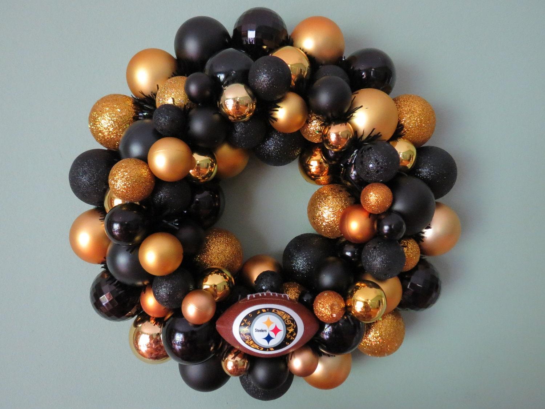 Pittsburgh Steelers Ornament Wreath