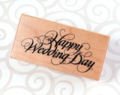 Wood Mounted Rubber Stamp from PSX - Happy Wedding Day