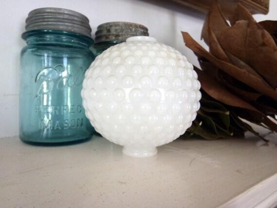 Milk Glass Hobnail Glass Lamp Globe Art Glass 1920s Antique Glass