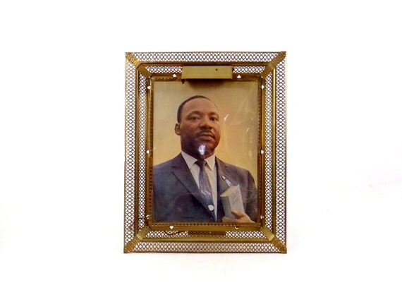 1960s Picture Lamp Martin Luther King Large Framed Picture MLK