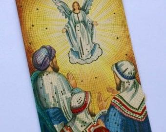 Vintage Three Wise Men Mosaic Christmas Card, Unused