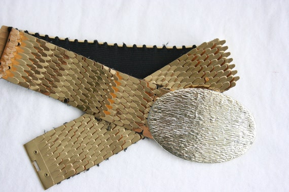 Vintage Belt Gold Reptile Style Plates