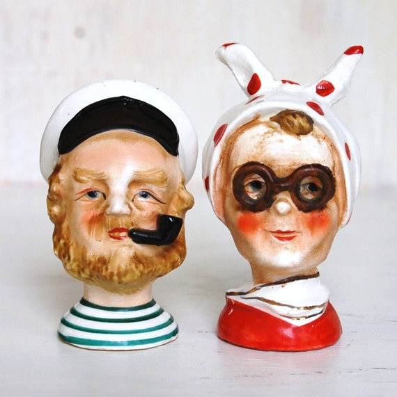 Vintage Captain and Wife Salt and Pepper Shakers