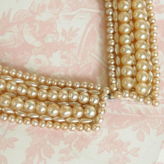 Vintage 1950s Pearl Collar Necklace