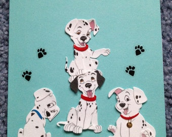 Dalmation puppy birthday card
