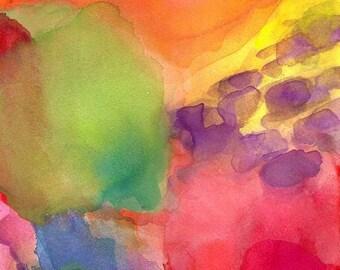 Art Print, Abstract Painting, 16 x 20, Quiet Joy